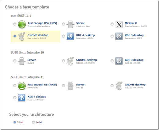 SUSE Studio Base Template