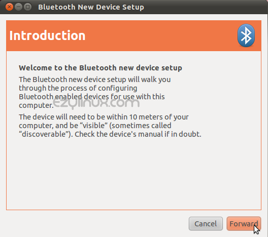 Bluetooth new device setup