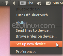 Setup new device - Bluetooth - Ubuntu