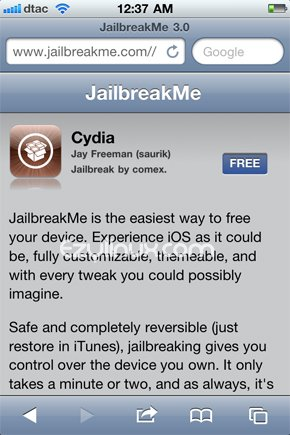 JailbreakMe-website