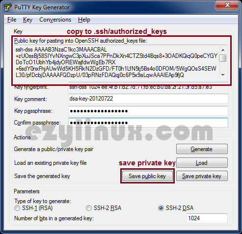save-private-key-and-public-key-on-putty-key-generator